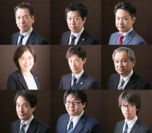 税理士9人のコラージュ